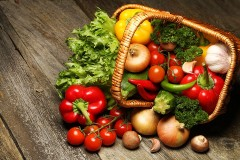 a basket of organic vegetables